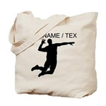 Custom Volleyball Spike Silhouette Tote Bag