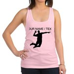 Custom Volleyball Spike Silhouette Racerback Tank