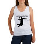 Custom Volleyball Spike Silhouette Tank Top