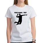 Custom Volleyball Spike Silhouette T-Shirt