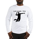 Custom Volleyball Spike Silhouette Long Sleeve T-S