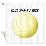 Custom Volleyball Shower Curtain