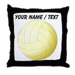 Custom Volleyball Throw Pillow