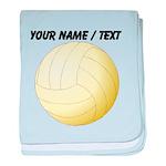 Custom Volleyball baby blanket