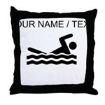 Custom Swimming Throw Pillow