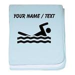 Custom Swimming baby blanket