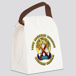 Emblem - 10th Mountain Division - DUI Canvas Lunch