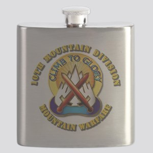 Emblem - 10th Mountain Division - DUI Flask