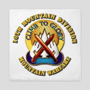 Emblem - 10th Mountain Division - DUI Queen Duvet