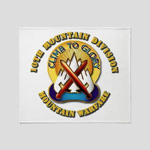 Emblem - 10th Mountain Division - DUI Throw Blanke