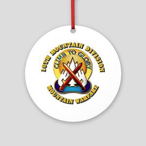 Emblem - 10th Mountain Division - DUI Ornament (Ro