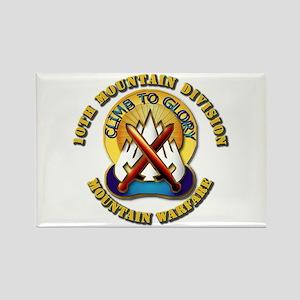 Emblem - 10th Mountain Division - DUI Rectangle Ma