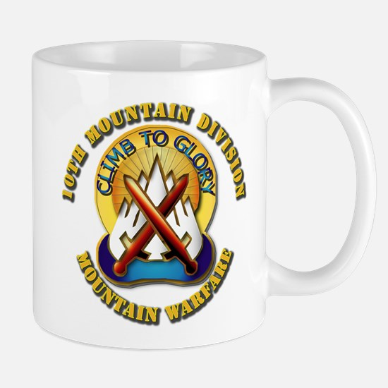 Emblem - 10th Mountain Division - DUI Mug