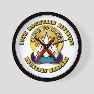 Emblem - 10th Mountain Division - DUI Wall Clock