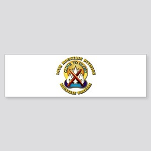 Emblem - 10th Mountain Division - DUI Sticker (Bum