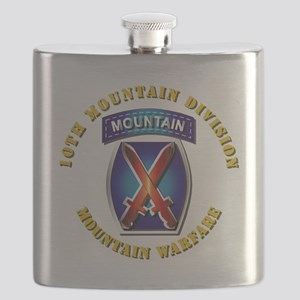 Emblem - 10th Mountain Division - SSI Flask