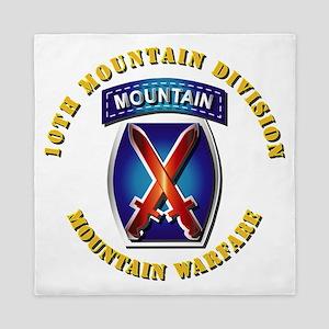 Emblem - 10th Mountain Division - SSI Queen Duvet