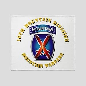 Emblem - 10th Mountain Division - SSI Throw Blanke