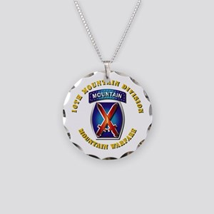 Emblem - 10th Mountain Division - SSI Necklace Cir