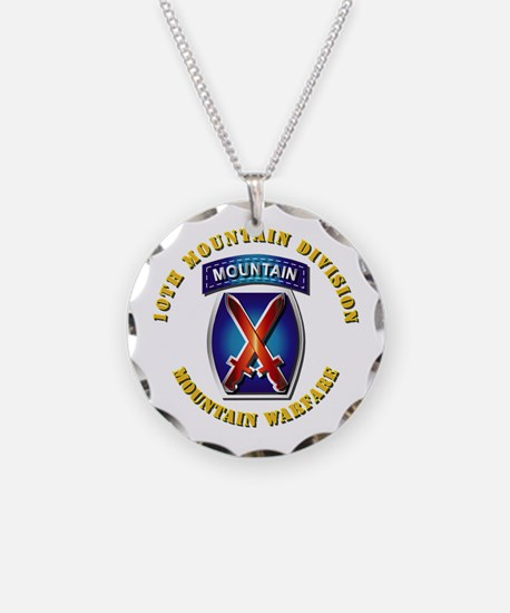Emblem - 10th Mountain Division - SSI Necklace
