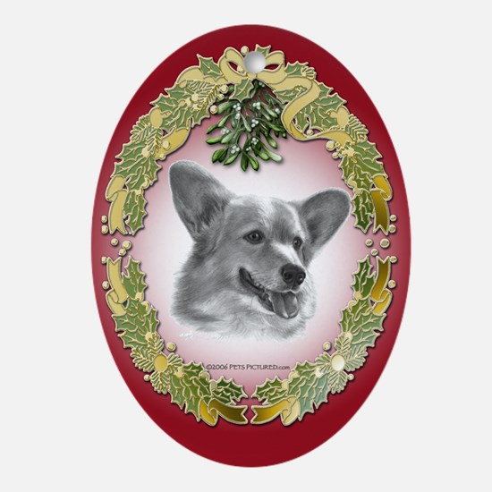 Welsh Corgi Christmas Oval Ornament