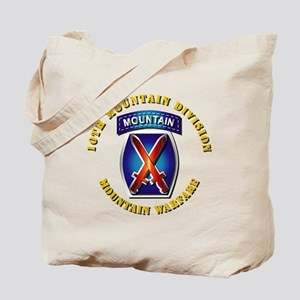 Emblem - 10th Mountain Division - SSI Tote Bag