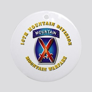 Emblem - 10th Mountain Division - SSI Ornament (Ro