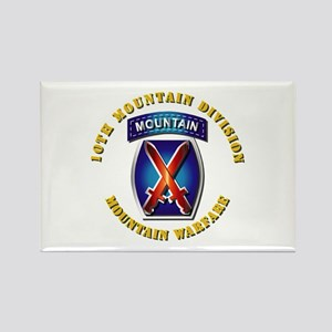 Emblem - 10th Mountain Division - SSI Rectangle Ma