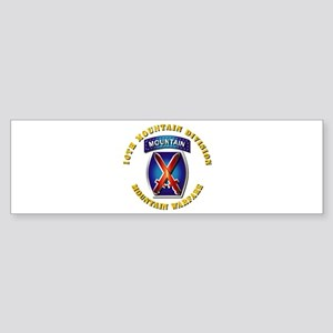 Emblem - 10th Mountain Division - SSI Sticker (Bum