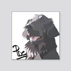 "Flatcoated retriever PerryBGC Square Sticker 3"" x"