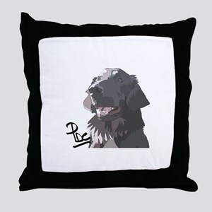 Flatcoated retriever PerryBGC Throw Pillow