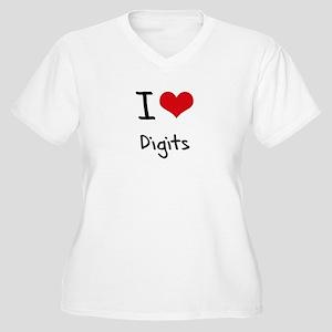 I Love Digits Plus Size T-Shirt