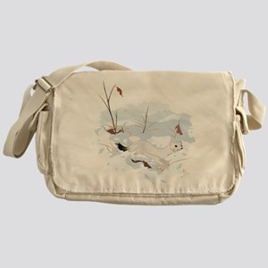 Ermine in the Snow Messenger Bag