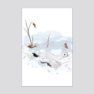 Ermine in the Snow Posters