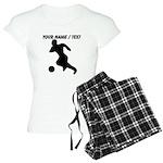 Custom Soccer Player Silhouette Pajamas