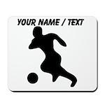 Custom Soccer Player Silhouette Mousepad