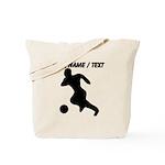 Custom Soccer Player Silhouette Tote Bag
