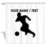Custom Soccer Player Silhouette Shower Curtain
