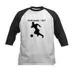 Custom Soccer Player Silhouette Baseball Jersey