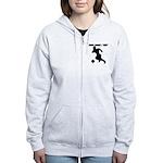Custom Soccer Player Silhouette Zip Hoodie