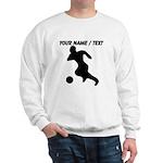 Custom Soccer Player Silhouette Sweatshirt