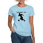 Custom Soccer Player Silhouette T-Shirt