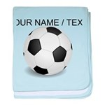 Custom Soccer Ball baby blanket