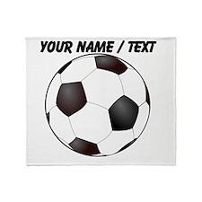 Custom Soccer Ball Throw Blanket