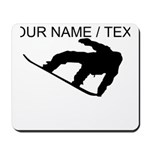 Custom Snowboarding Silhouette Mousepad