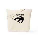 Custom Snowboarding Silhouette Tote Bag