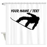 Custom Snowboarding Silhouette Shower Curtain