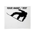 Custom Snowboarding Silhouette Throw Blanket