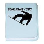 Custom Snowboarding Silhouette baby blanket