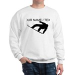 Custom Snowboarding Silhouette Sweatshirt